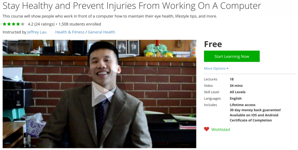Stay Healthy and Prevent Injuries From Working On A Computer